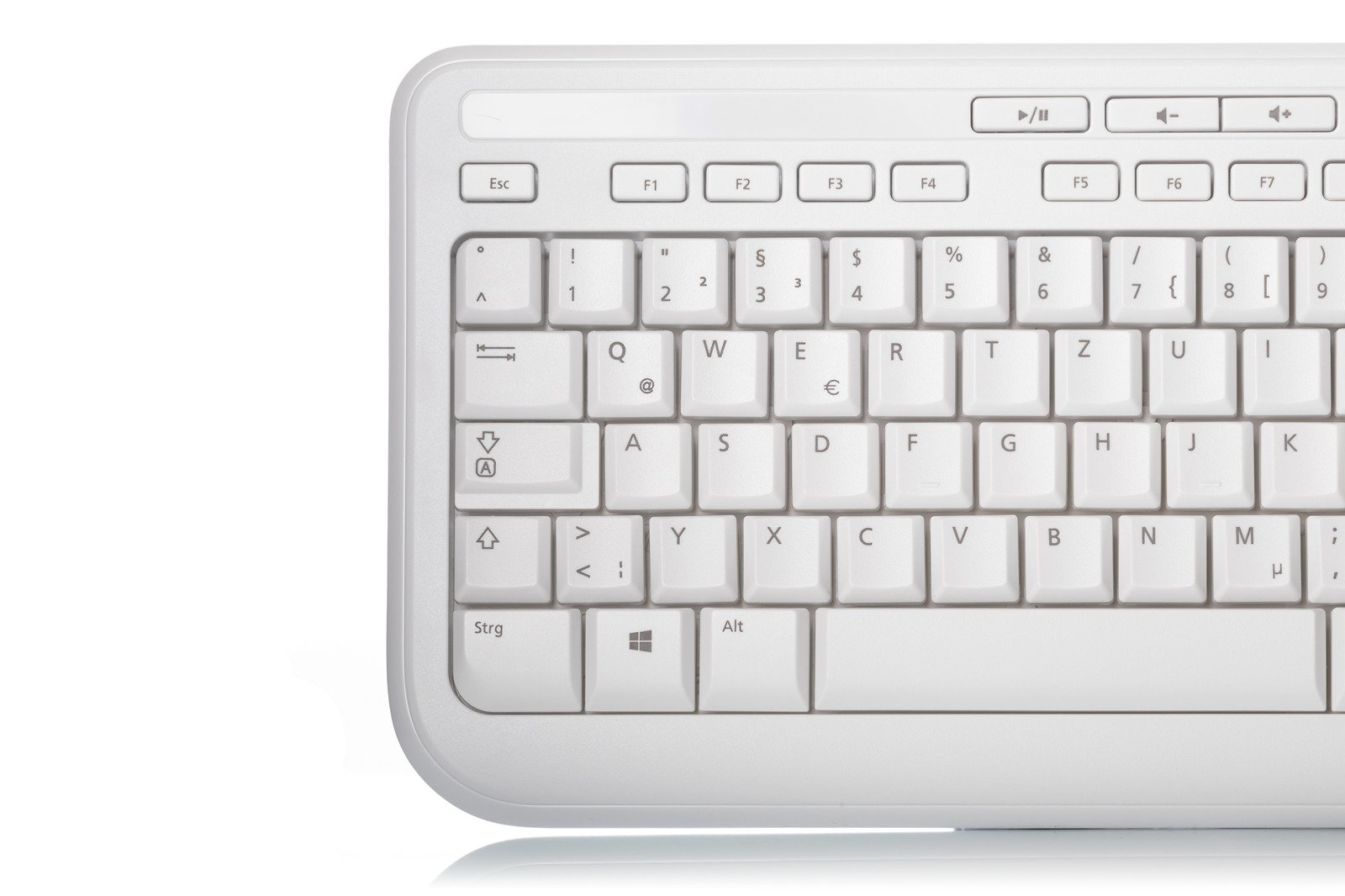 OFFICIAL MICROSOFT WIRED 600 KEYBOARD WHITE GERMAN QWERTZ NEW