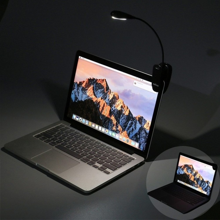 Lampka z klipsem 4 LED Lampka do czytania, laptopa